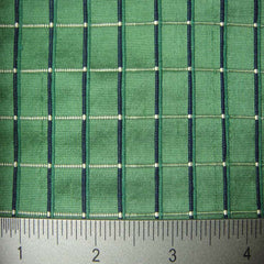 Silk Embroidered Grid Shantung LA53
