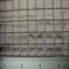 Silk Embroidered Grid Shantung LA55