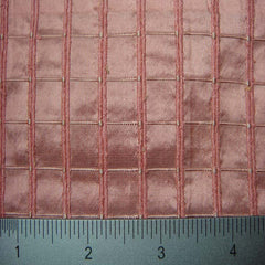 Silk Embroidered Grid Shantung LA57