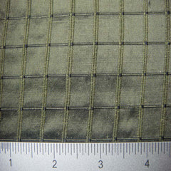 Silk Embroidered Grid Shantung LA58