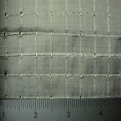 Silk Embroidered Grid Shantung LA59