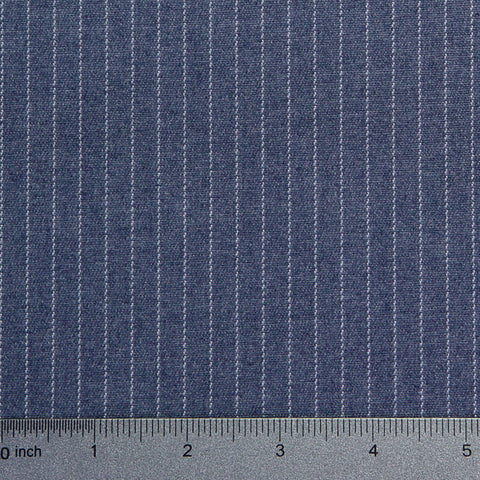 Cotton Pinstripe Denim Light Blue - NY Fashion Center Fabrics