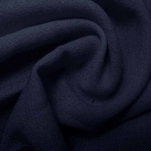 Wool Crepe Light Navy