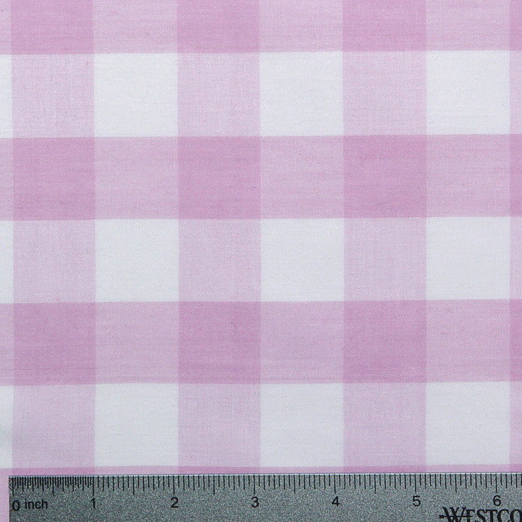 Cotton/Polyester Gingham Lilac - NY Fashion Center Fabrics