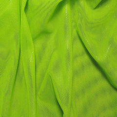 Nylon Metallic Stretch Mesh Lime - NY Fashion Center Fabrics