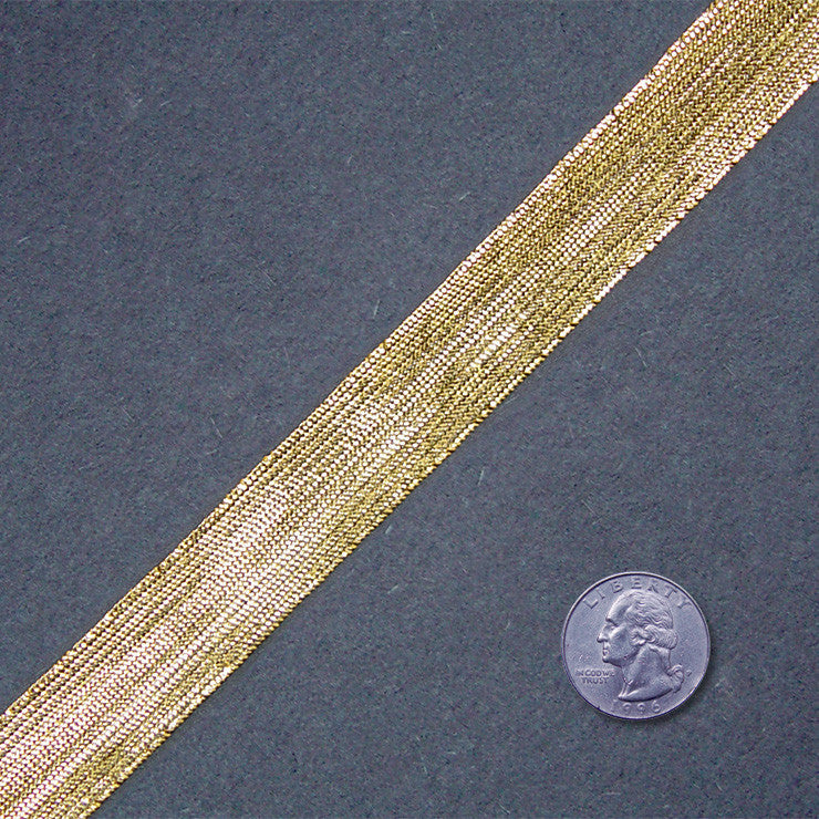 Metallic Braid Trim MB28 MB28 Gold - NY Fashion Center Fabrics