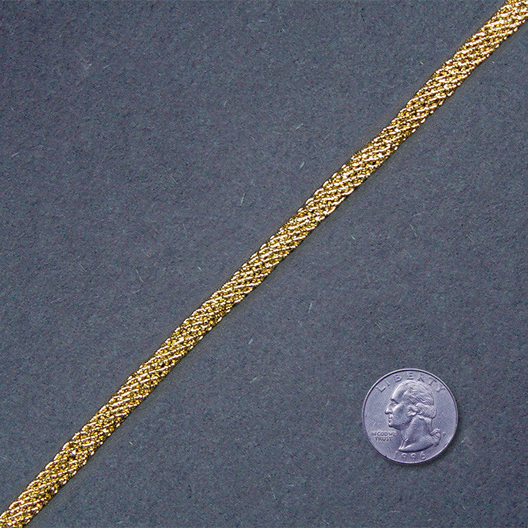 Metallic Braid Trim MB33 MB33 Gold - NY Fashion Center Fabrics