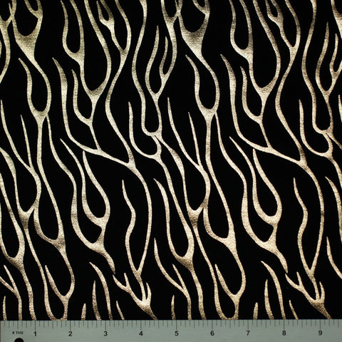 Metallic Flame Printed Spandex Meta 146 - NY Fashion Center Fabrics