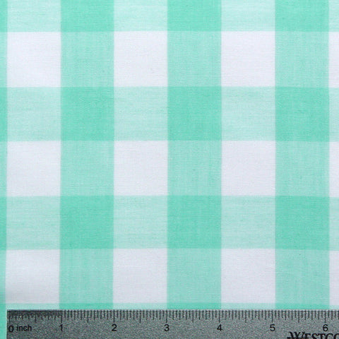 Cotton/Polyester Gingham Mint - NY Fashion Center Fabrics