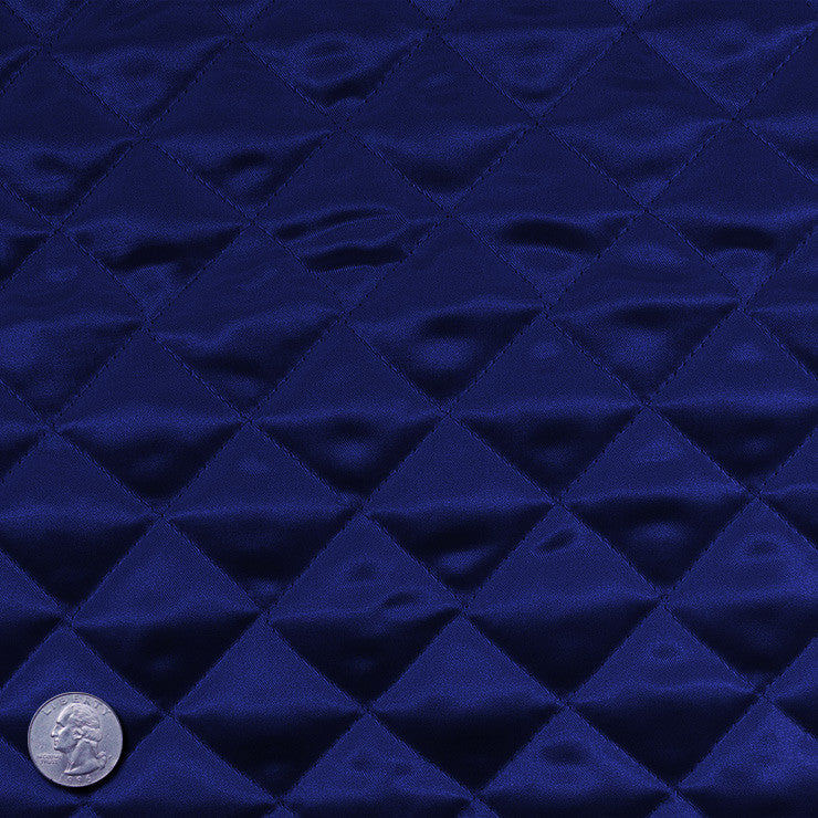 Polyester Quilted Padded Lining Navy