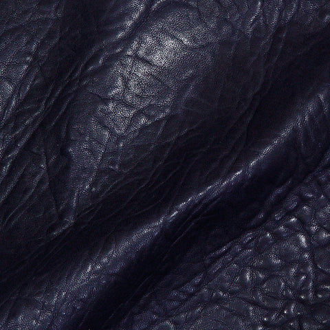 Bubble Lamb Leather Navy - NY Fashion Center Fabrics