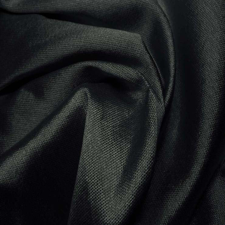 Silk Wool Fabric Navy