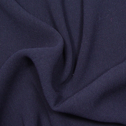 Polyester/Triacetate Blend Jersey Navy