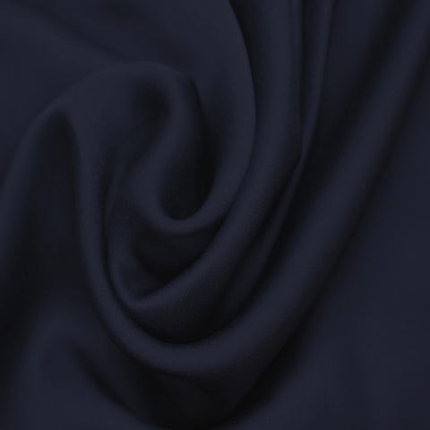 Satin Chiffon Fabric Navy