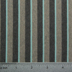 Cotton Spandex Striped Jersey Olive and Teal - NY Fashion Center Fabrics