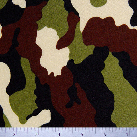 Camouflage Print Spandex Olive - NY Fashion Center Fabrics