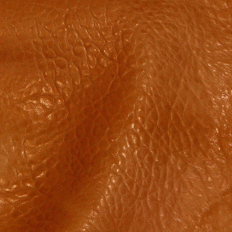 Bubble Lamb Leather Orange - NY Fashion Center Fabrics
