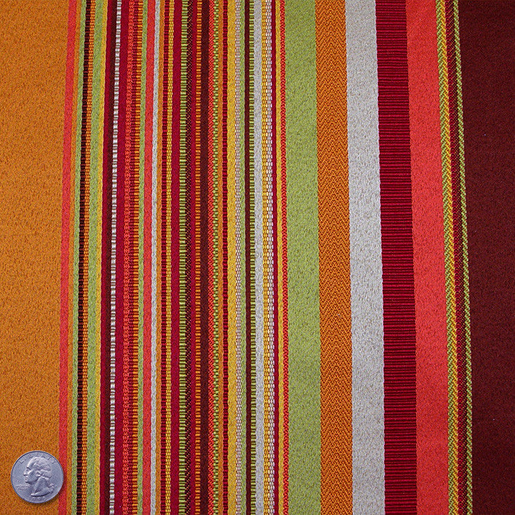 Polyester Marvel Jacquard Stripe Orange