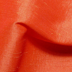Polyester Stretch Shantung Orange