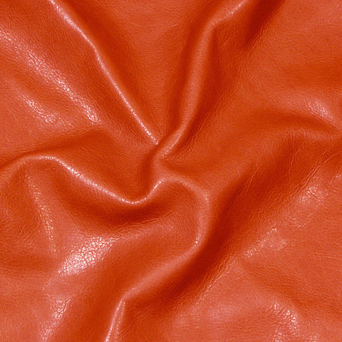 Executive leather Orange - NY Fashion Center Fabrics