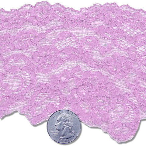"3"" Stretch Raschel Lace Trim Orchid"