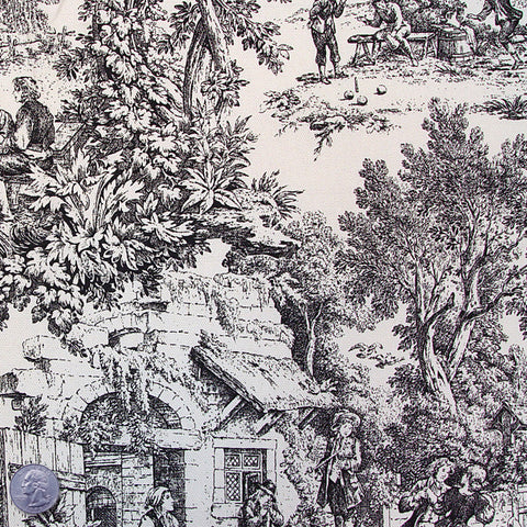 Cotton/Poly Blend Toile Print PC500 - NY Fashion Center Fabrics
