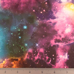 Space Spandex Print Fabric PS 3777 Multi Tone