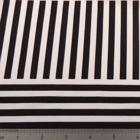 Geometric Line Print Spandex PS 4198 White - NY Fashion Center Fabrics