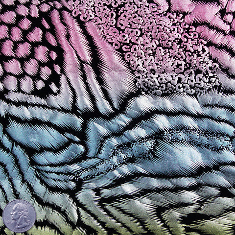 Metallic Animal Print Spandex Pastel Cat - NY Fashion Center Fabrics