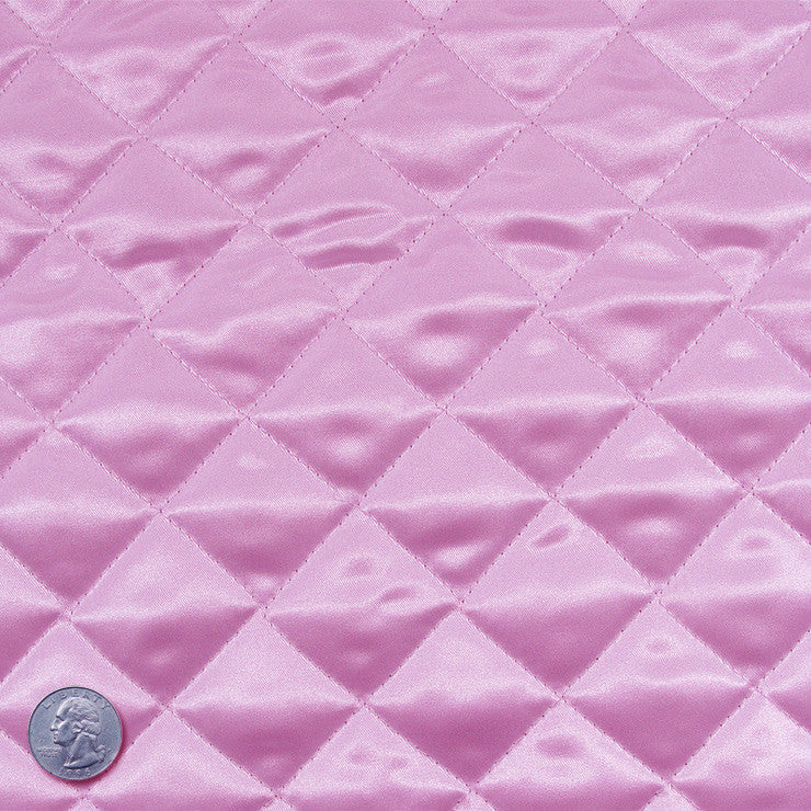 Polyester Quilted Padded Lining Pink