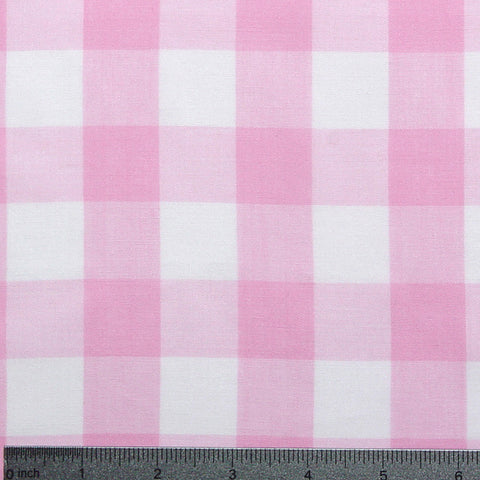 Cotton/Polyester Gingham Pink - NY Fashion Center Fabrics
