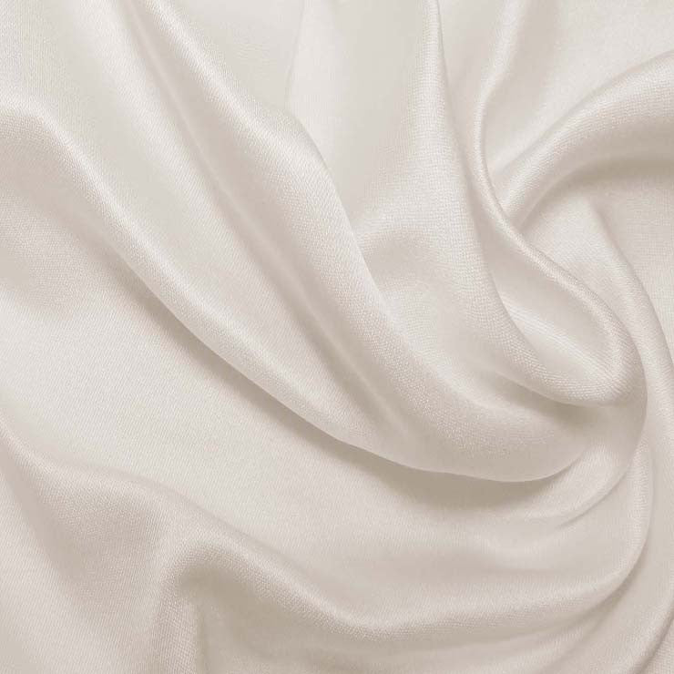 Silk Double Face Satin Pristine White