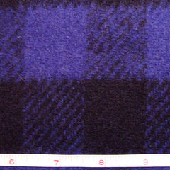 Wool Buffalo Plaid Check Fabric Purple and Black