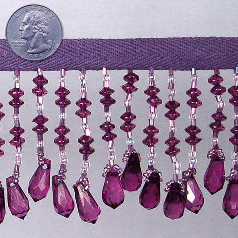 Bead Trim BTR090-P Purple - NY Fashion Center Fabrics