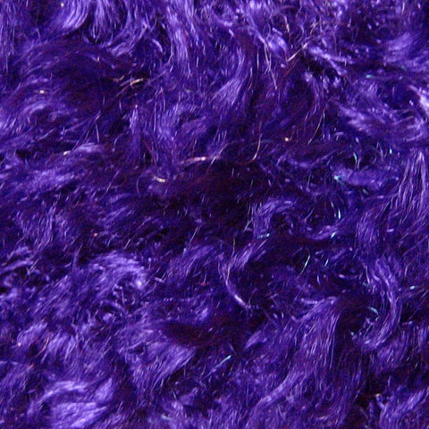 Polyester Stretch Poodle Faux Fur Purple