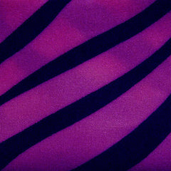 Shiny Zebra Print Spandex Purple