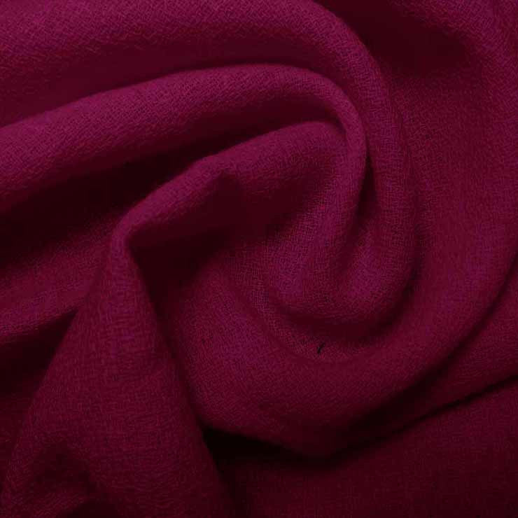 Wool Crepe Raspberry