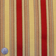 Cotton/Poly Blend Mozart Stripe Jacquard Red Yellow - NY Fashion Center Fabrics