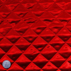 Polyester Quilted Padded Lining Red