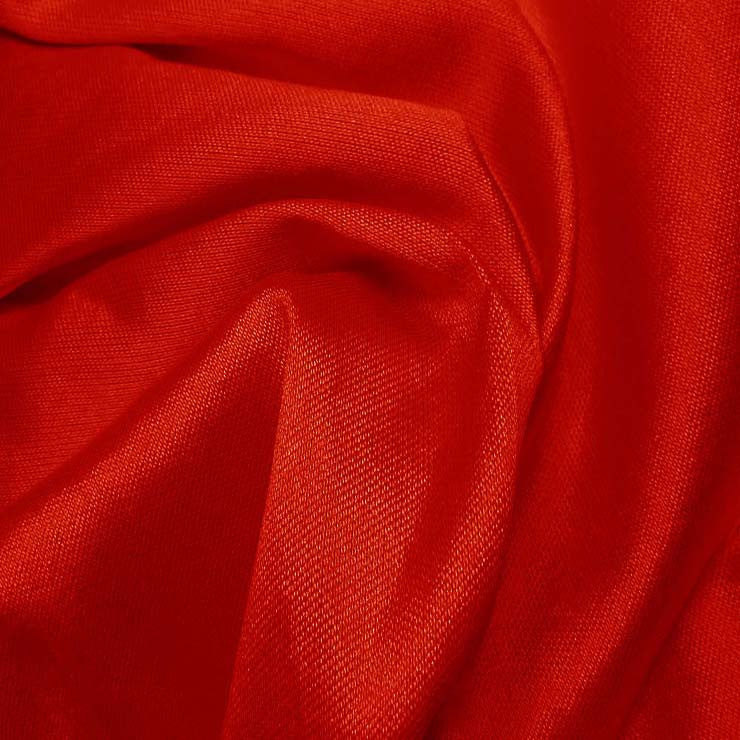 Silk Wool Fabric Red
