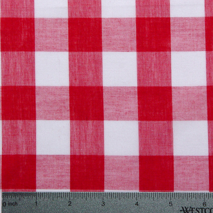 Cotton/Polyester Gingham Red - NY Fashion Center Fabrics