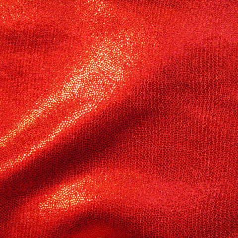 Foil Dotted Spandex 15 Yard Minimum Red - NY Fashion Center Fabrics