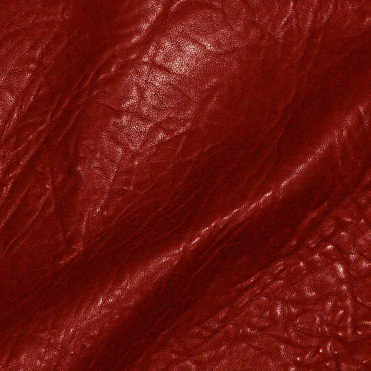 Bubble Lamb Leather Red - NY Fashion Center Fabrics