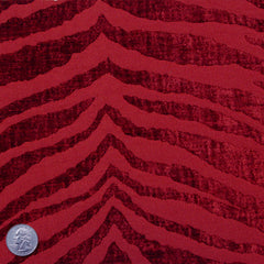 Polyester/Cotton Blend Tigerstripe Chenille Jacquard Red