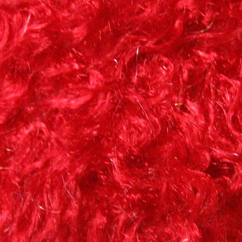 Polyester Stretch Poodle Faux Fur Red