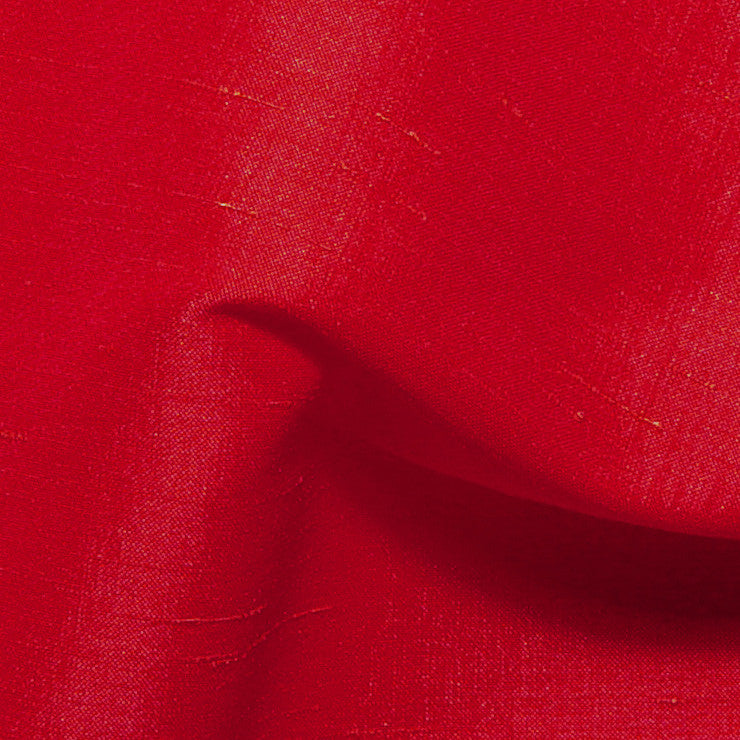 Polyester Stretch Shantung Red