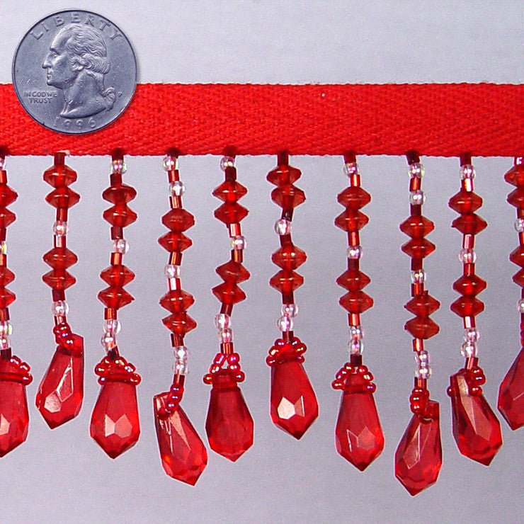 Bead Trim BTR090-R Red - NY Fashion Center Fabrics