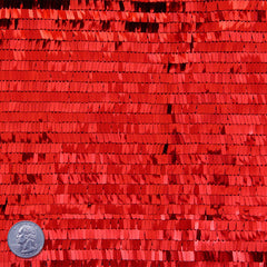 Piano Sequin Mesh Red