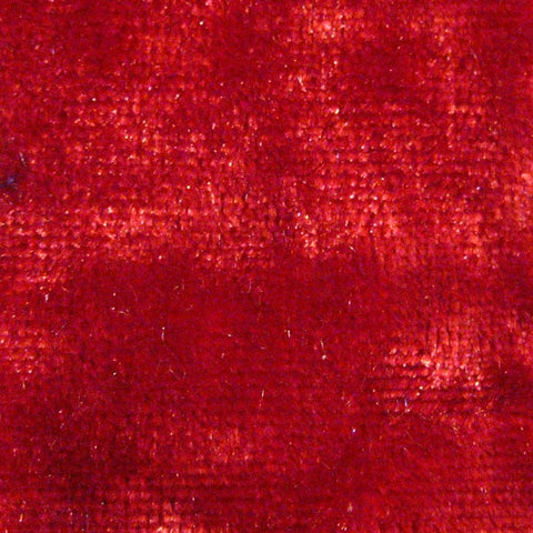 Spandex Crushed Velvet 15 Yard Minimum Red