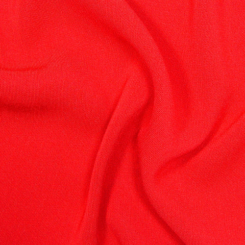 Polyester/Triacetate Blend Jersey Red